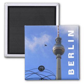 Berlin TV Tower (Berliner Fernsehturm) 2 Inch Square Magnet