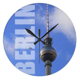 BERLÍN TV Tower (berlinés Fernsehturm) Reloj Redondo Grande