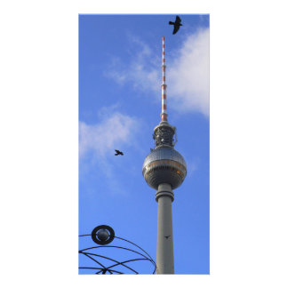 Berlín TV Tower (berlinés Fernsehturm) Tarjeta Personal Con Foto