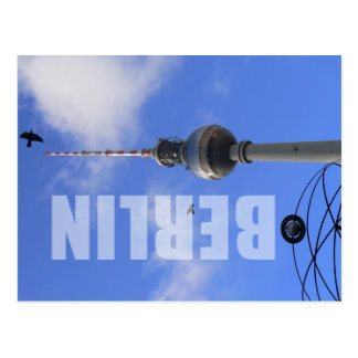 Berlín TV Tower (berlinés Fernsehturm) Tarjeta Postal