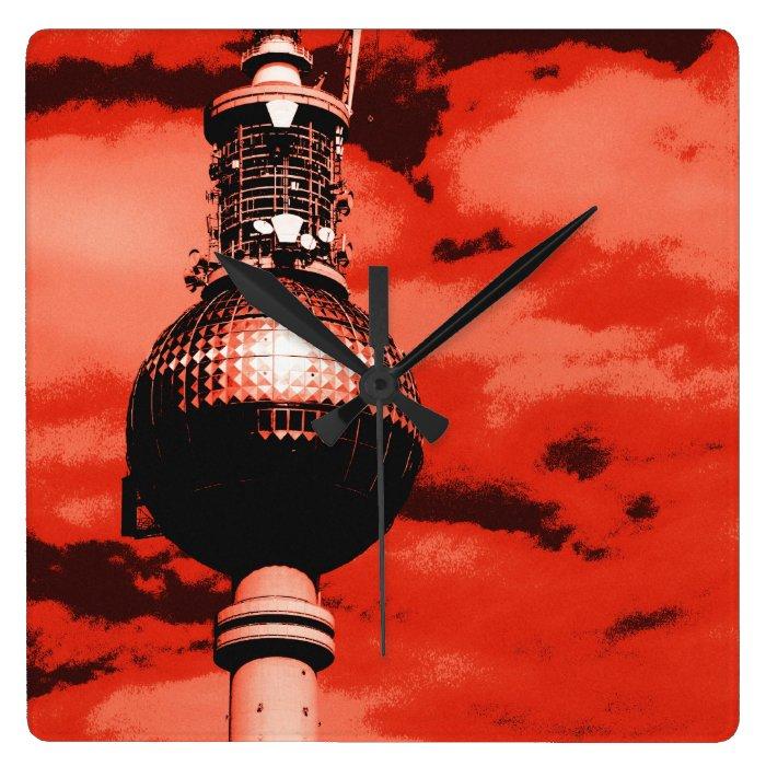 Berlin TV tower Square Wall Clock