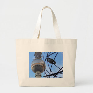 """BERLIN TV Tower with Detail of """"World Time Clock"""" Bags"""