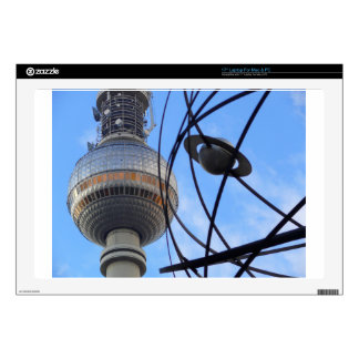 "BERLIN TV Tower with Detail of ""World Time Clock"" Laptop Decal"