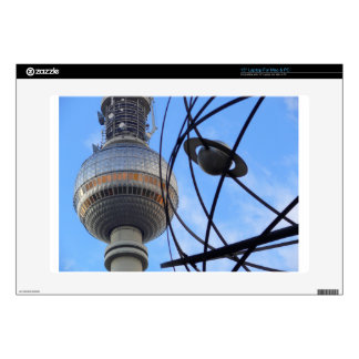 "BERLIN TV Tower with Detail of ""World Time Clock"" Laptop Skins"