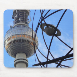 """BERLIN TV Tower with Detail of """"World Time Clock"""" Mouse Pad"""
