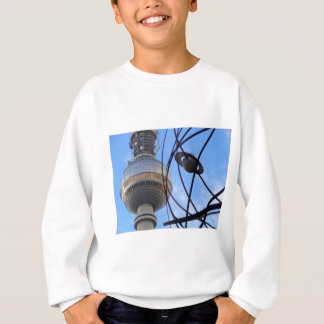 """BERLIN TV Tower with Detail of """"World Time Clock"""" Sweatshirt"""