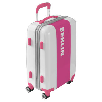 BERLIN, Typo white / pink Luggage