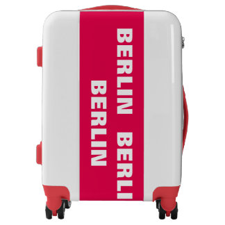 BERLIN, Typo white / red Luggage