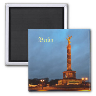 Berlin Victory Column 2 Inch Square Magnet