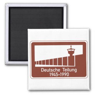 Berlin Wall 1945-1990, Berlin Wall, Germany Sign 2 Inch Square Magnet
