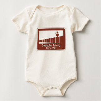 Berlin Wall 1945-1990, Berlin Wall, Germany Sign Baby Bodysuit
