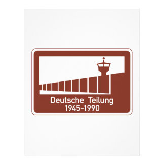 Berlin Wall 1945-1990, Berlin Wall, Germany Sign Letterhead Template