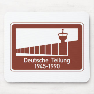Berlin Wall 1945-1990, Berlin Wall, Germany Sign Mouse Pad