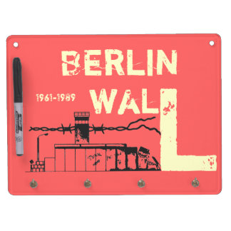 Berlin wall GDR Dry Erase Board With Keychain Holder