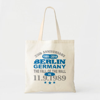 Berlin Wall Germany 25 Year Anniversary Budget Tote Bag