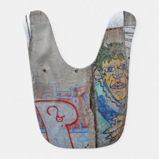 Berlin Wall graffiti art Baby Bib