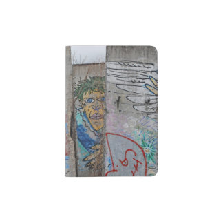 Berlin Wall graffiti art Passport Holder