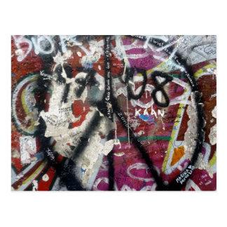 berlin wall graffiti peace post cards