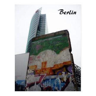 berlin wall potsdamerplatz post card
