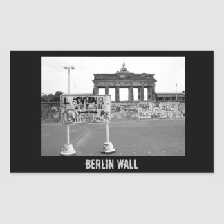 Berlin Wall Rectangle Stickers