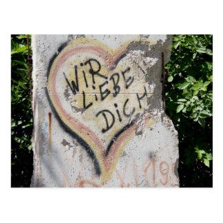 Berlin Wall - We Love You Postcard