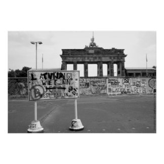 Berlin Wall West Germany 1989 Print
