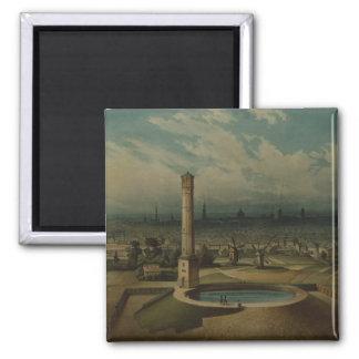 Berlin waterworks, c.1860 2 inch square magnet