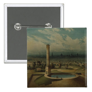 Berlin waterworks, c.1860 2 inch square button