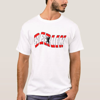 BERLIN with the flag of Berlin Germany T-Shirt