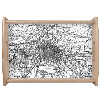 Berlín y mapa de los alrededores (1911) bandejas
