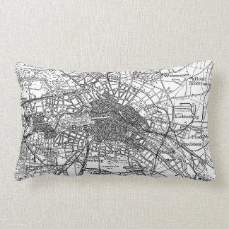 Berlín y mapa de los alrededores (1911) almohadas
