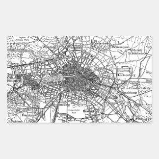 Berlín y mapa de los alrededores (1911) rectangular pegatinas