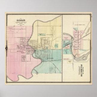 Berlín y pueblo de Plymouth Póster