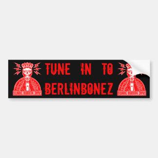 BERLINBONEZ BROADCASTING COMPANY BUMPER STICKER