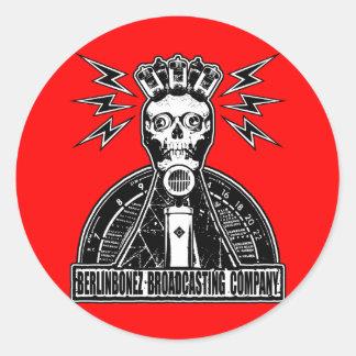BERLINBONEZ BROADCASTING COMPANY CLASSIC ROUND STICKER