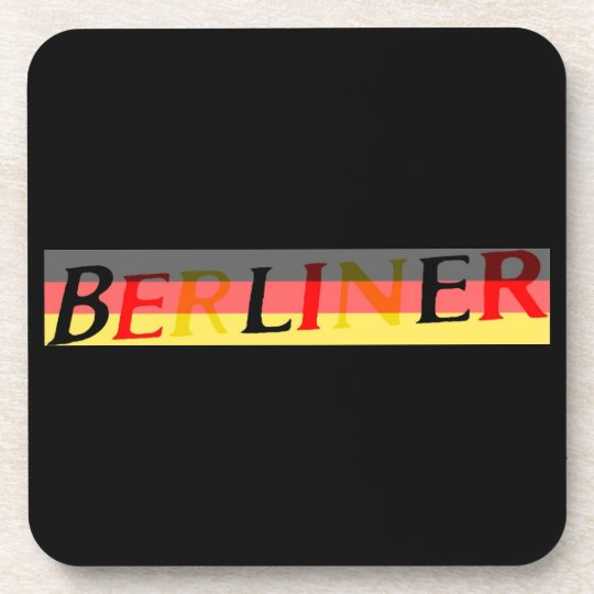 Berliner Logo on German Flag Coaster