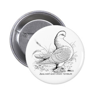 Berliner Pigeon Black and White Pinback Buttons