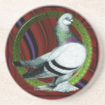 "Berliner Pigeon Circle Drink Coaster<br><div class=""desc"">Here&#39;s a Berliner Tumbler pigeon with a different kind of background!</div>"