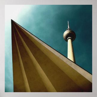 Berlinés Fernsehturm Póster