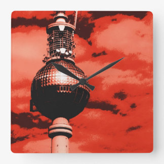 Berlinés Fernsehturm Reloj Cuadrado