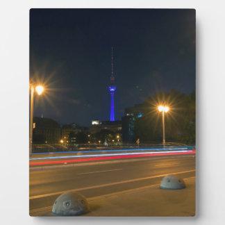 Berlinés paisaje de noche placa de madera