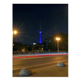 Berlinés paisaje de noche postal