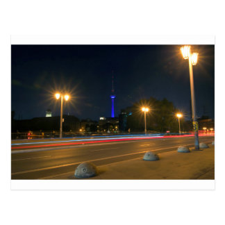 Berlinés paisaje de noche postales
