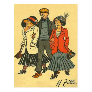 Berlineses - Zille - motivo del vintage Tarjetas Postales