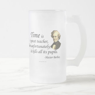Berlioz on Time 16 Oz Frosted Glass Beer Mug