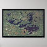 Bermellón del lago, poster del satélite de Minneso