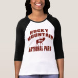 Bermellón del viejo estilo de la montaña rocosa camiseta