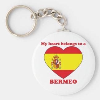 Bermeo Basic Round Button Keychain