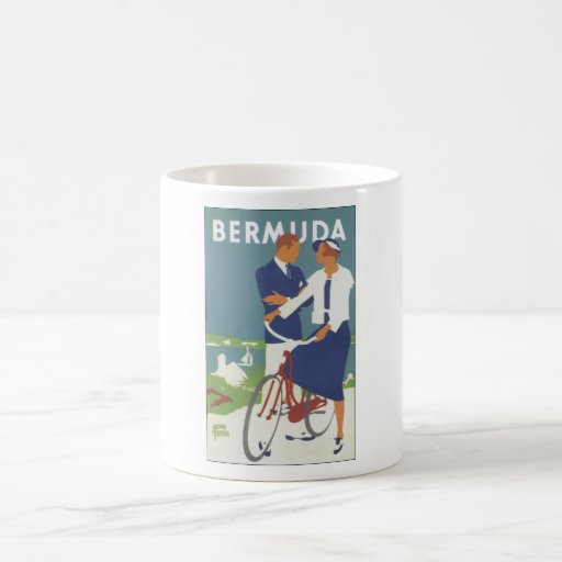 Bermuda Ad featuring a young sailing type couple Mug