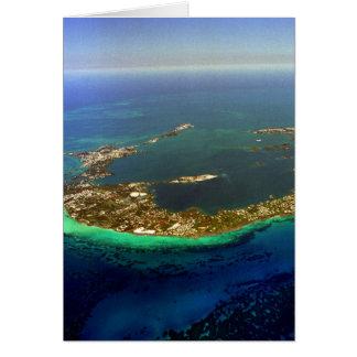 Bermuda Aerial Photograph Card
